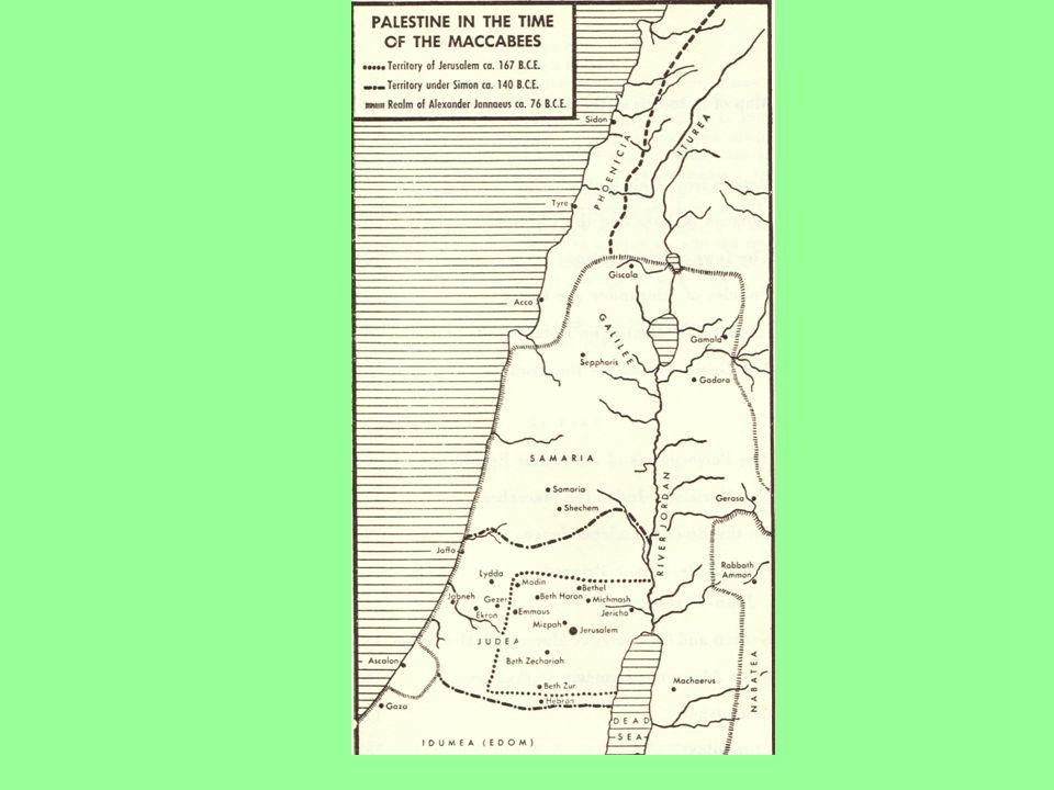 Chronology 200 BC(E) Seleucids take Palestine –223-187 Antiochus III –187-175 Seleucus IV 175-163 Antiochus IV –168 Suppression of Jewish Worship 166-