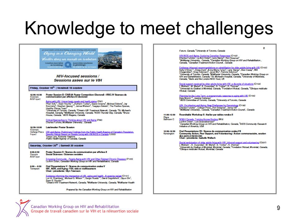 Knowledge to meet challenges 9