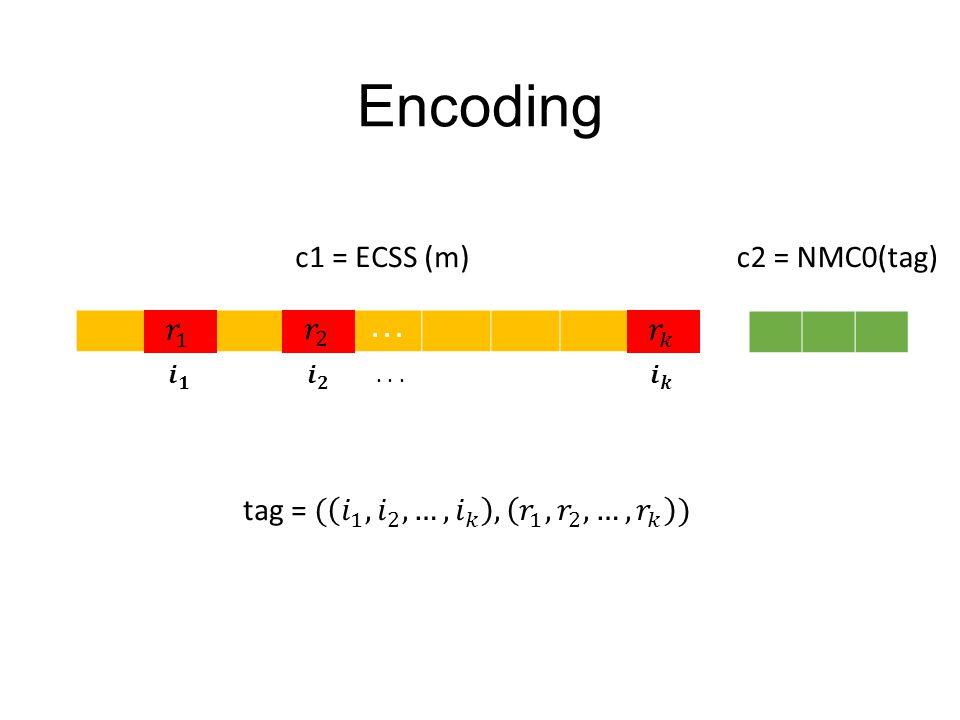 ... c1 = ECSS (m)c2 = NMC0(tag)...