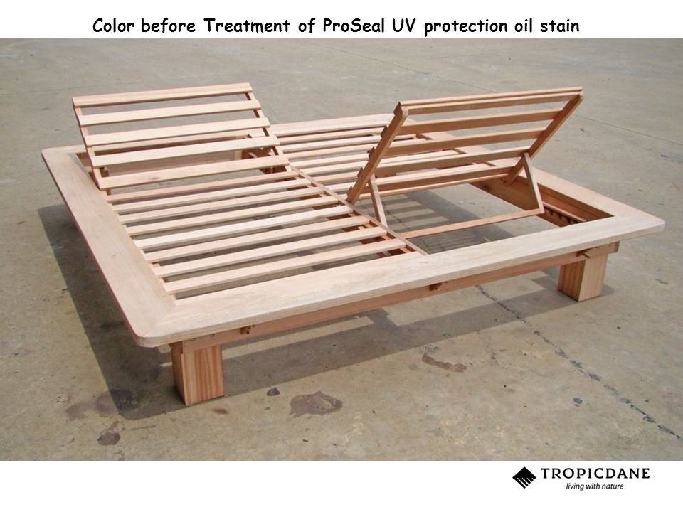 Color before Treatment of ProSeal UV protection oil stain