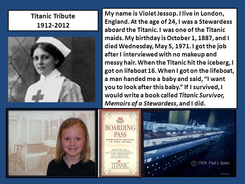 Titanic Tribute 1912-2012 My name is Daniel Marvin.