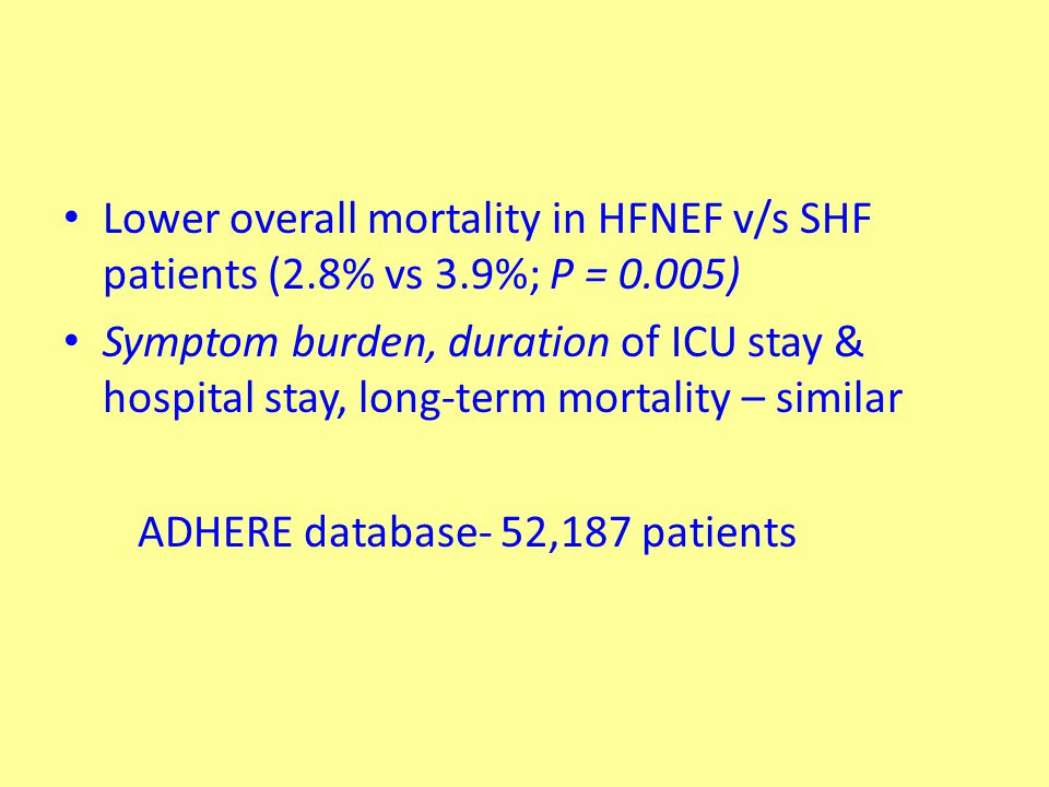 The Digitalis Investigation Group Evaluated effects of digoxin on all-cause mortality and HF hospitalization in patients with HF regardless of EF LVEF >45% (n = 988) –ancillary study parallel to main trial Digoxin - no effect on all-cause mortality/CV hospitalization Trend toward a ↓ in HF related hospitalizations ↔↑in hospitalizations for UA Ahmed A et al.