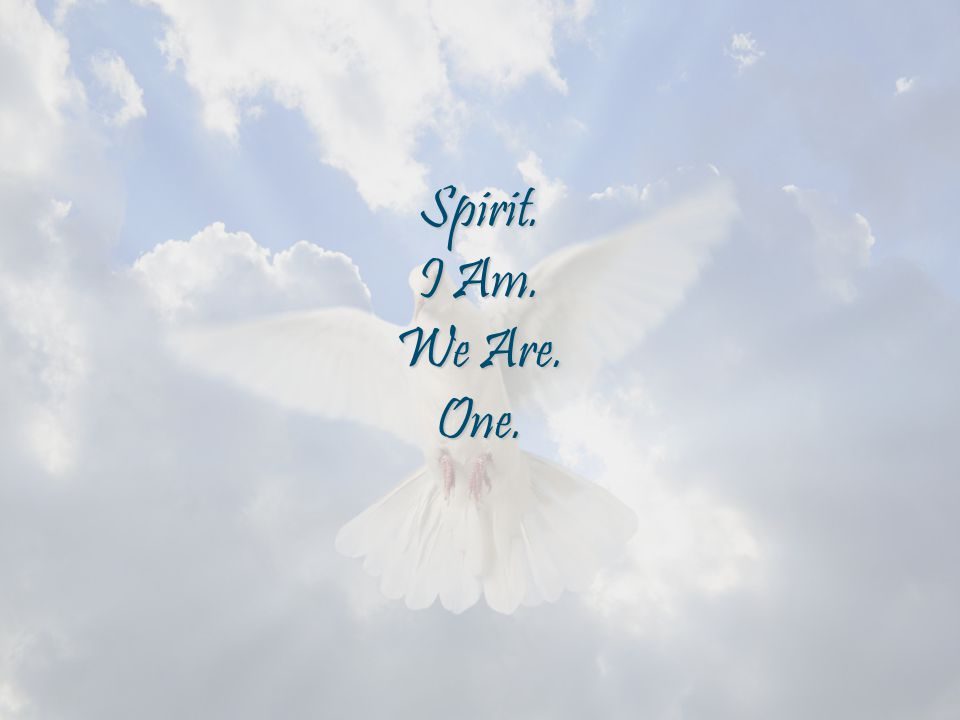 Spirit. I Am. We Are. One.