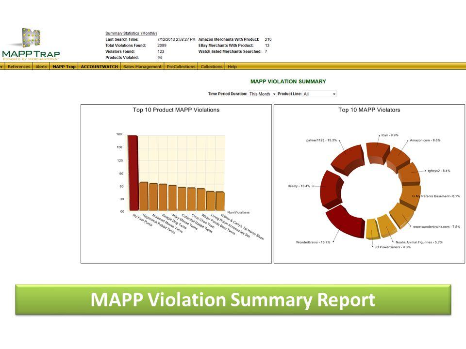 MAPP Violation Summary Report