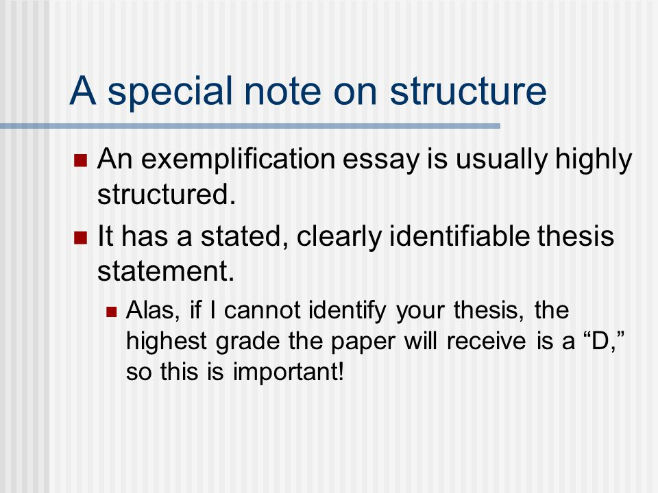 Exemplification Essay Topics