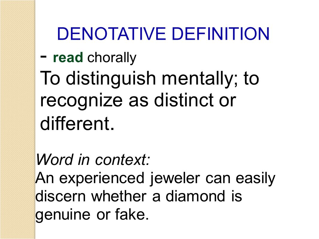 Based on the pictures and the denotative definition, create a friendly definition with your group (in other words, put the definition into your own words.)