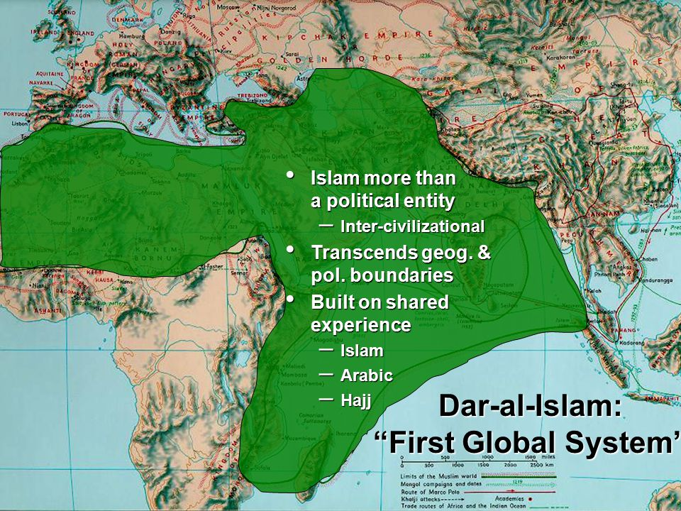 Islam more than a political entity Islam more than a political entity – Inter-civilizational Transcends geog. & pol. boundaries Transcends geog. & pol