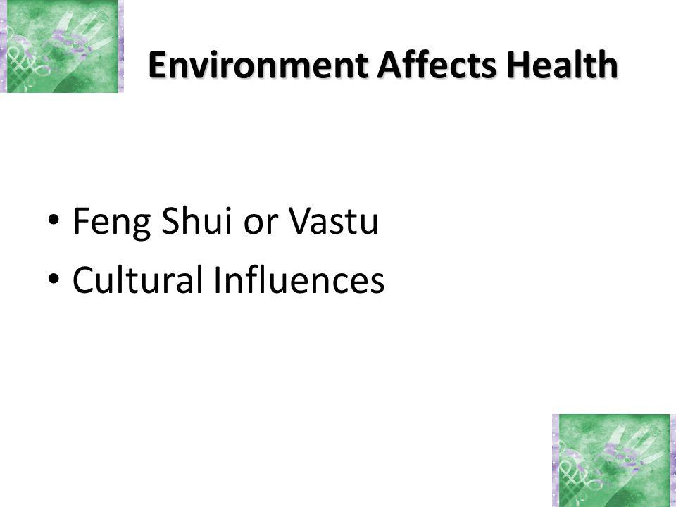 Environment Affects Health Feng Shui or Vastu Cultural Influences