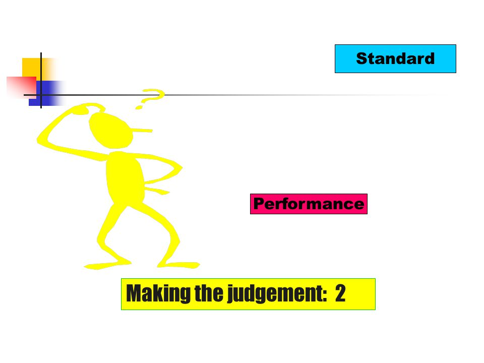 Standard Performance Making the judgement: 2