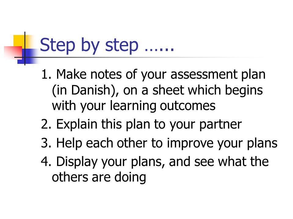 Step by step …... 1.