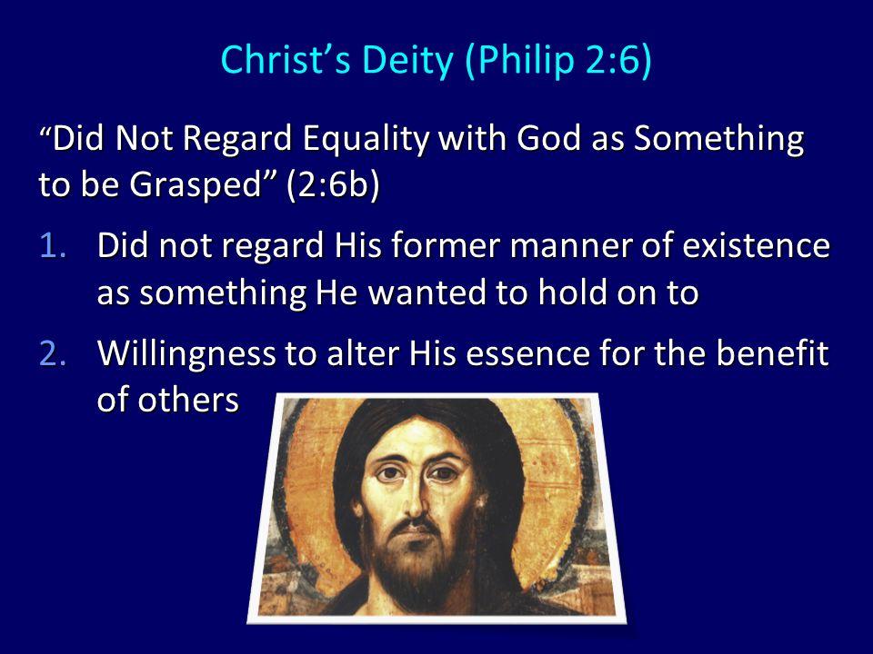 Christ's Humanity (Philip 2:7) Emptied Himself (2:7a) 1.Ekenosen = kenosis 2.What did He not empty Himself of.