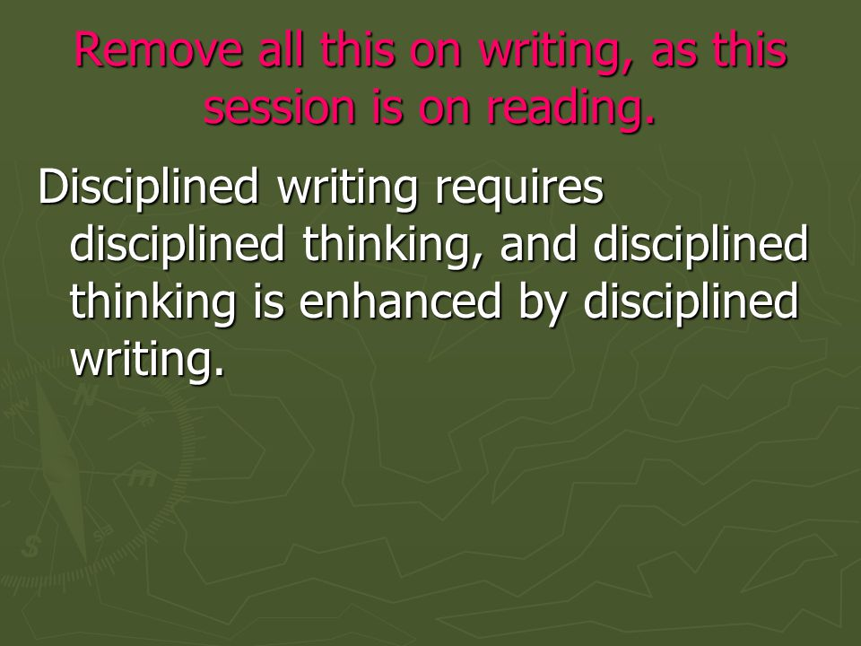 Part II: Practice Five levels of reading
