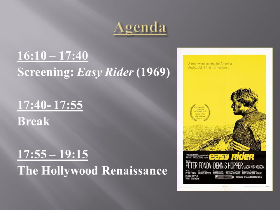 In what ways does Easy Rider exemplify the characteristics of the Renaissance films.