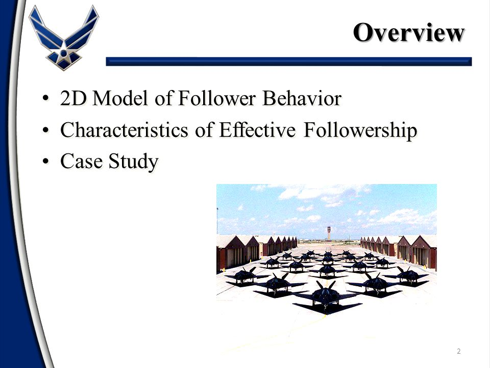 2 2D Model of Follower Behavior Characteristics of Effective Followership Case Study 2D Model of Follower Behavior Characteristics of Effective Followership Case StudyOverview