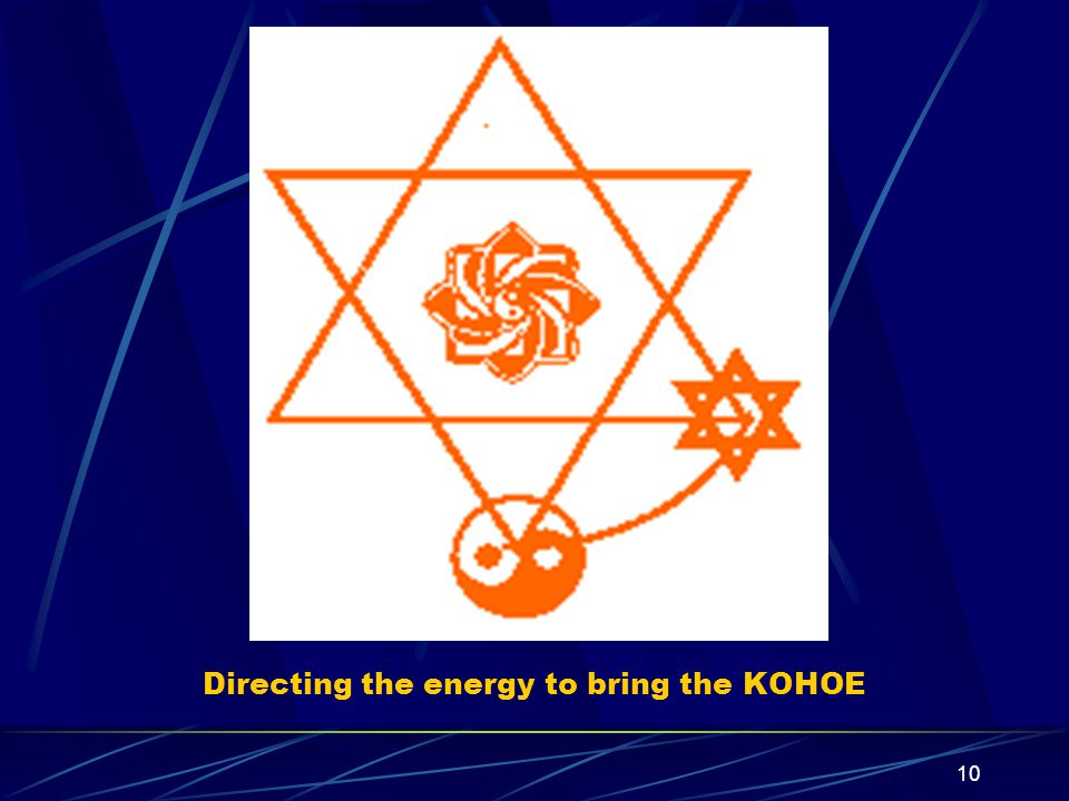 10 Directing the energy to bring the KOHOE
