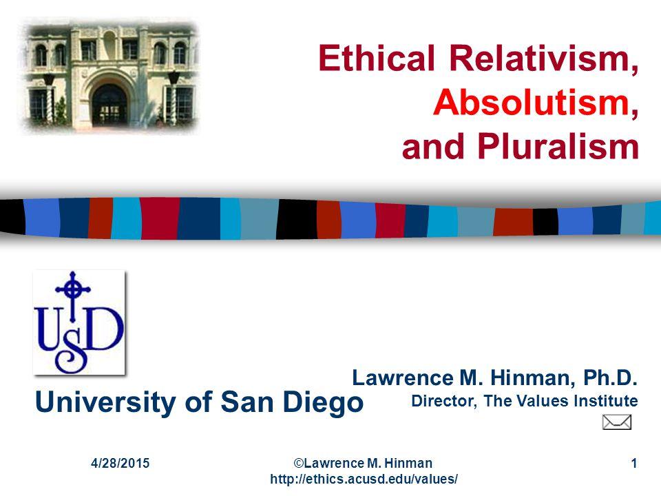 Lawrence M.Hinman, Ph.D.