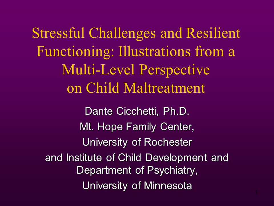 2 Research conducted within a developmental psychopathology perspective demonstrates that there is multifinality in developmental processes such that the manner in which the individual constructs, responds to, and interacts with vulnerability and protective forces at each level of the ecology allows for diversity of outcomes.