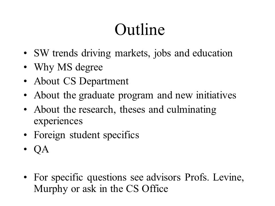 CS Department mission Goals: to be the best in CSU and world famous in selected areas of Computer Science Prepare students for careers in industry Prepare students for further graduate study CS WWW site www.cs.sfsu.eduwww.cs.sfsu.edu We offer BS and MS in CS About 400 undergrads, about 100 grads Most students have MS as terminal degree, and there are some going for Ph.D.