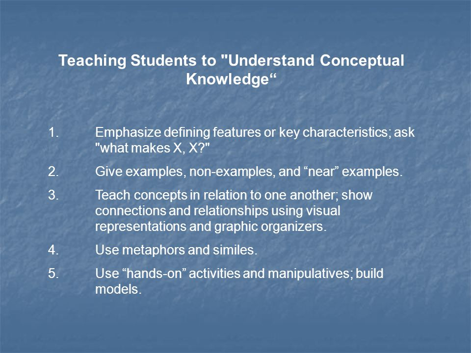 Teaching Students to