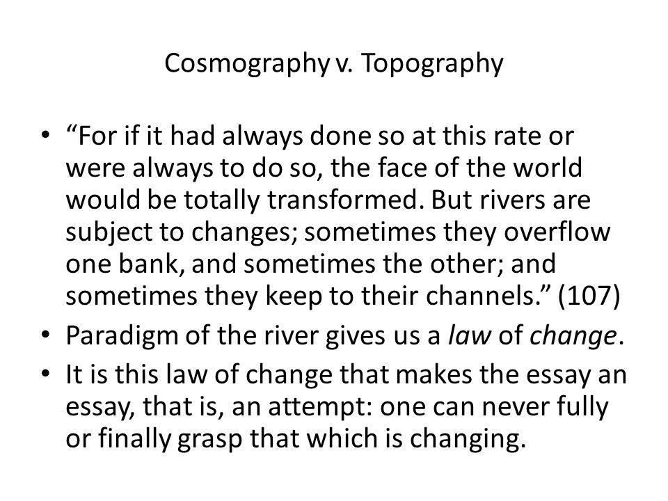 Cosmography v.