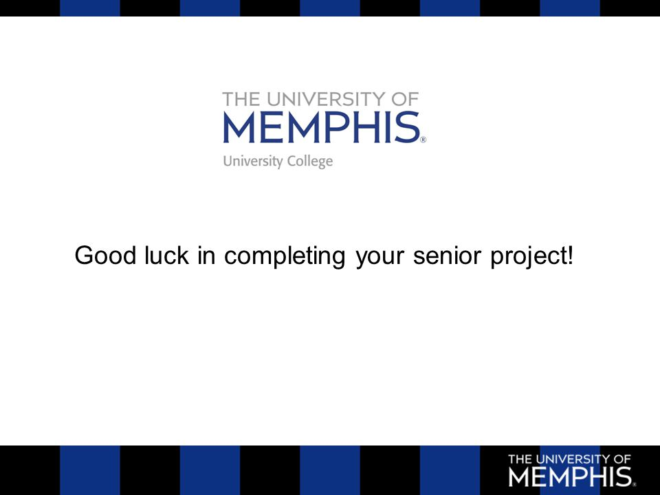 Good luck in completing your senior project!