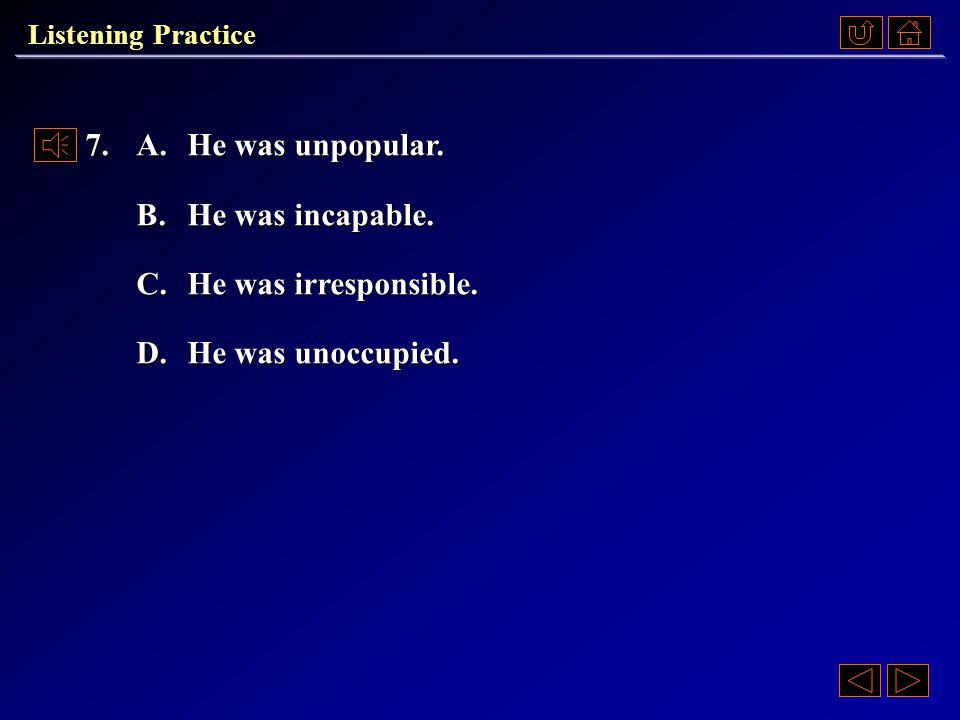 Listening Practice Passage 2 Questions