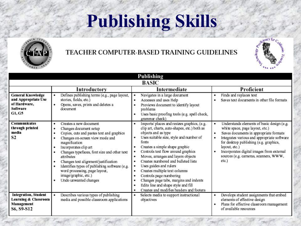 Publishing Skills