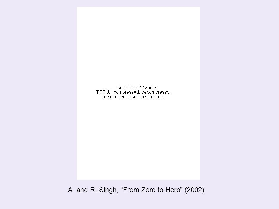 "A. and R. Singh, ""From Zero to Hero"" (2002)"