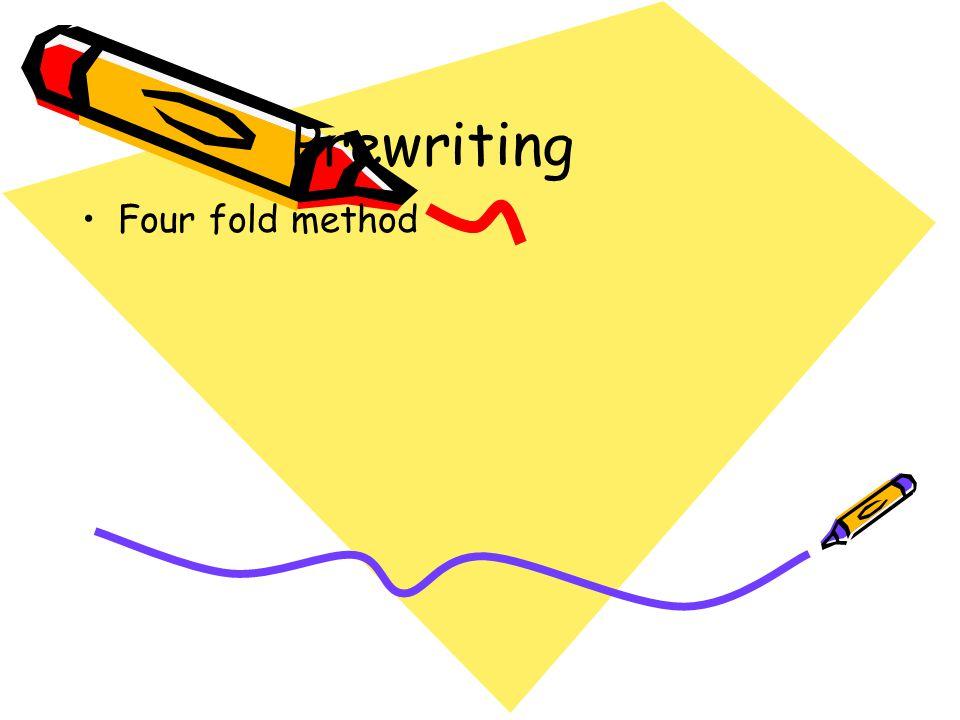 Prewriting Four fold method