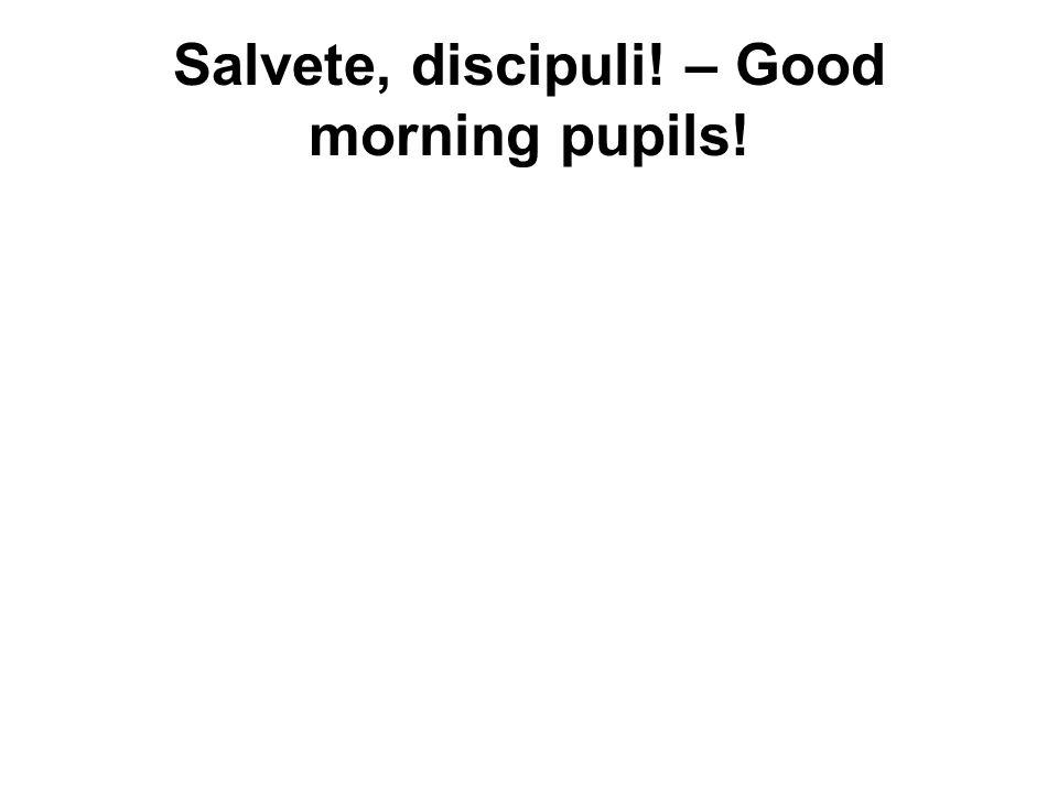 Salvete, discipuli! – Good morning pupils!