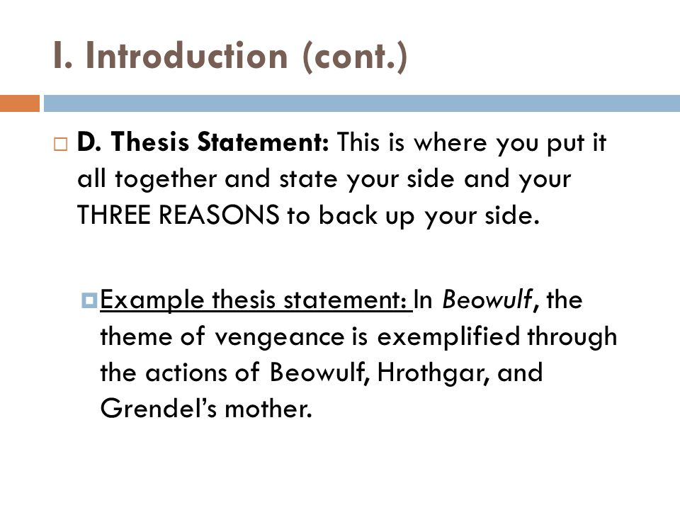 III.Conclusion Paragraph  C.