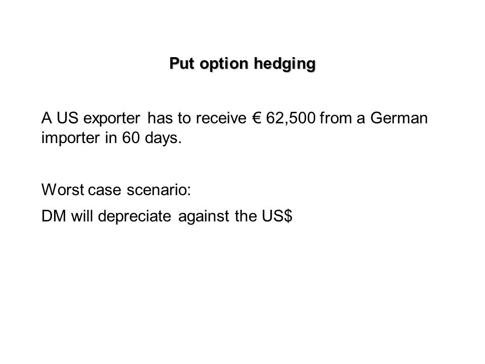 Call option hedging