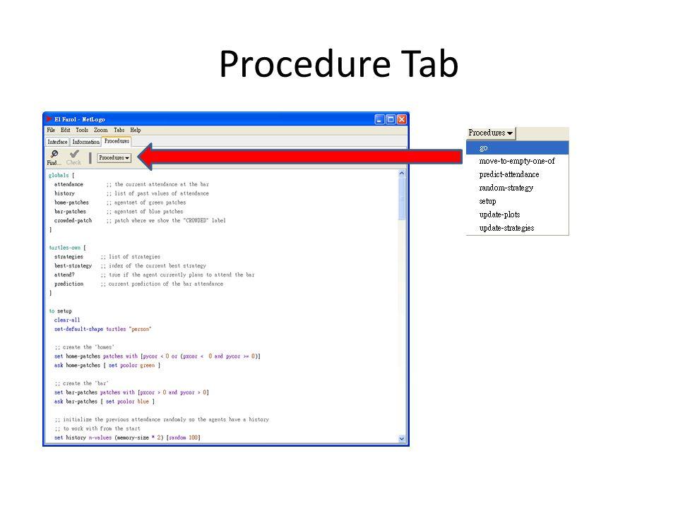 Procedure Tab
