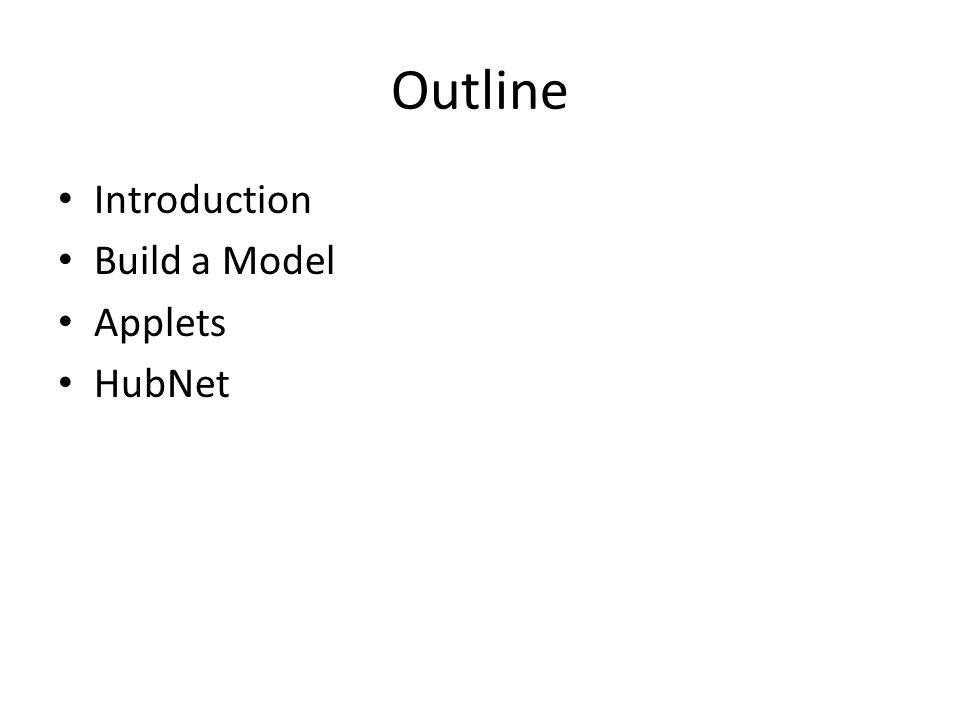 Outline Introduction Build a Model Applets HubNet