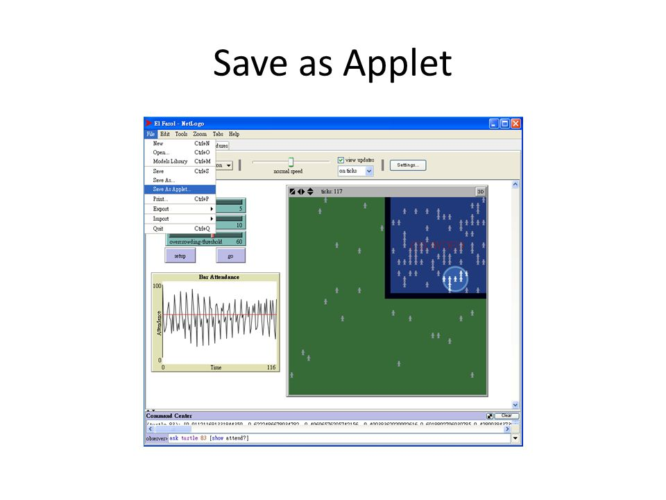 Save as Applet