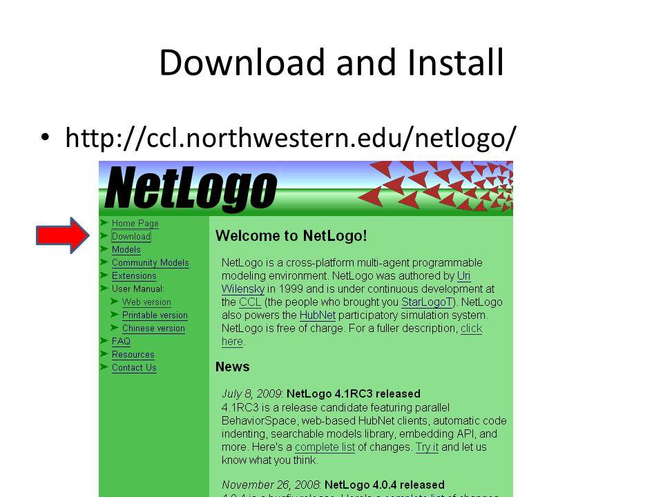 Initial the NetLogo