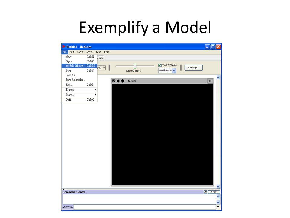 Exemplify a Model