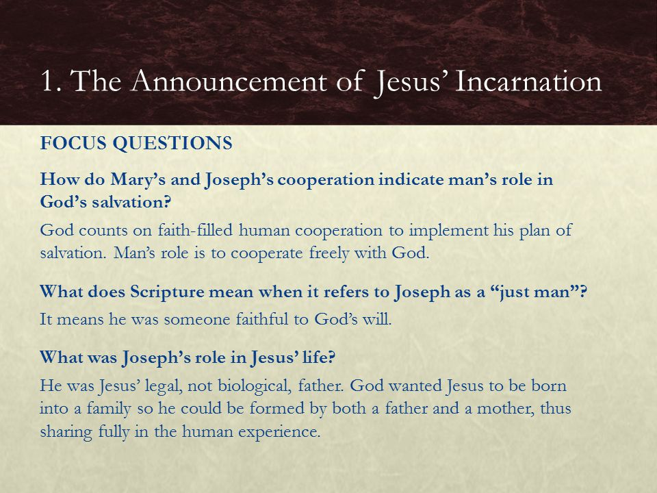 How do Mary's and Joseph's cooperation indicate man's role in God's salvation.