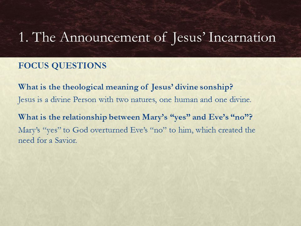What is the theological meaning of Jesus' divine sonship.