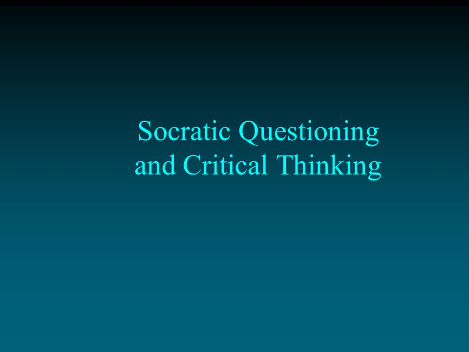 Socrates thought that people learned best, not by being told what to believe or do, but by being guided through questioning to what made most sense to believe or do.