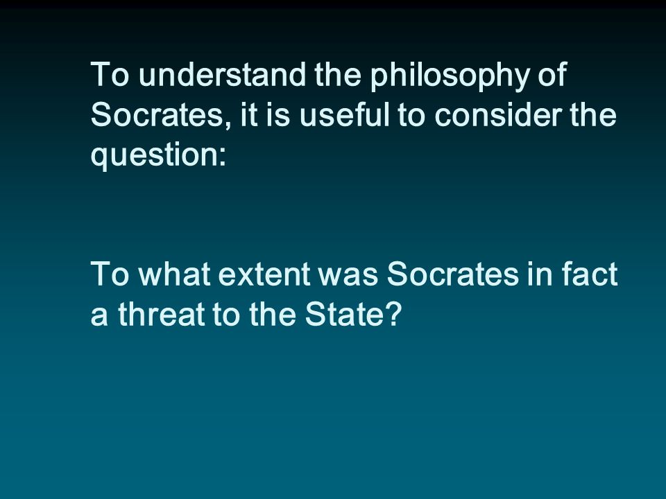 In Athens, in 399 B.C.E., Socrates was accused, indicted, and ultimately put to death for two reasons: 1. introducing and believing in gods other than