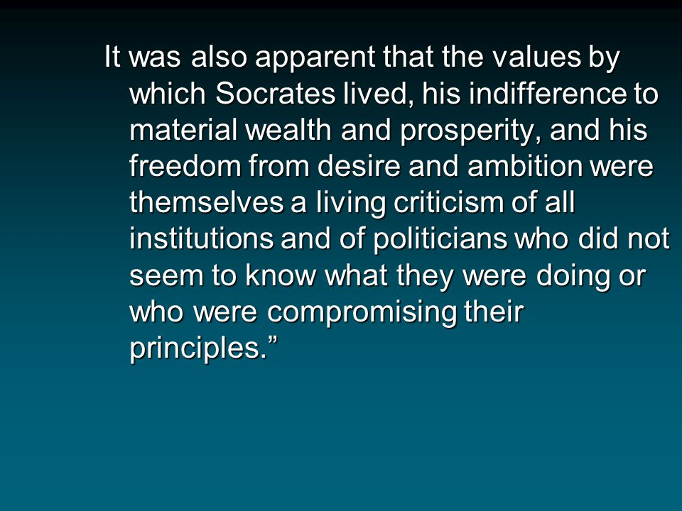 Socrates not only publicly raised such fundamental questions as 'What is arête?' And 'Who are its teachers?' But by creating a climate of questioning