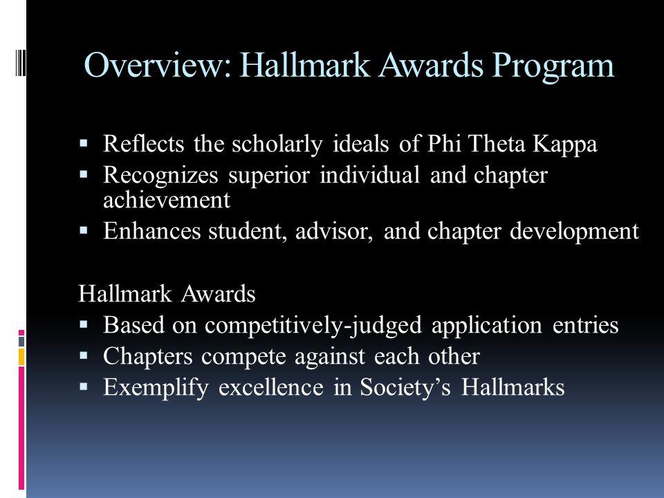 Submitting Your Hallmark Award Entry