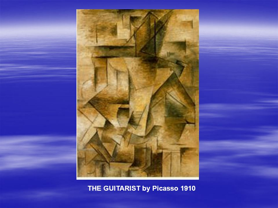 THE GUITARIST by Picasso 1910