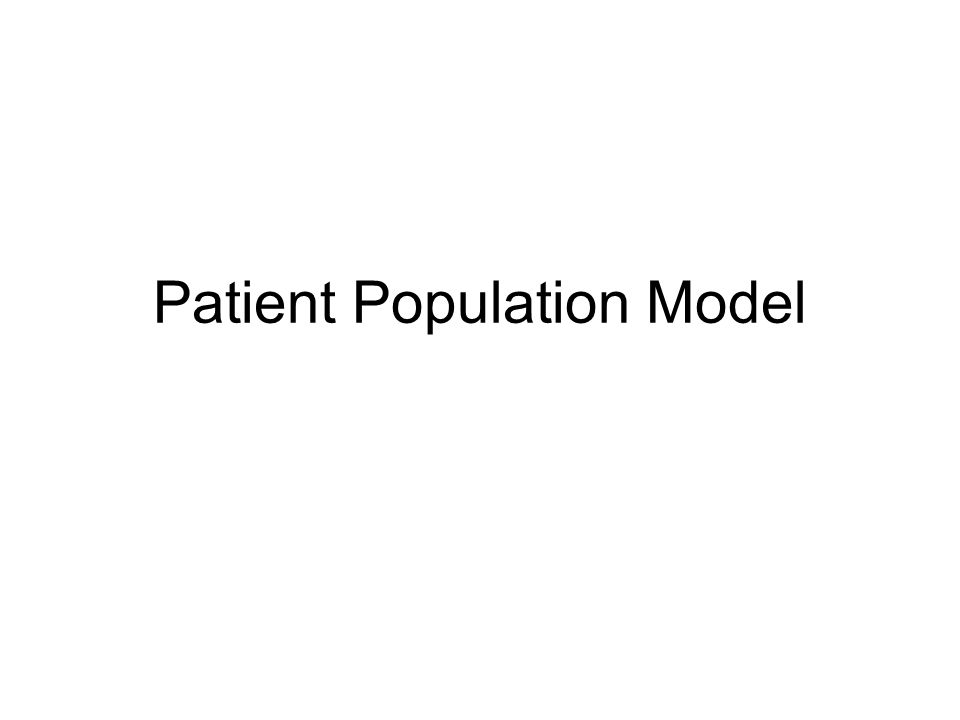 Patient Population Model