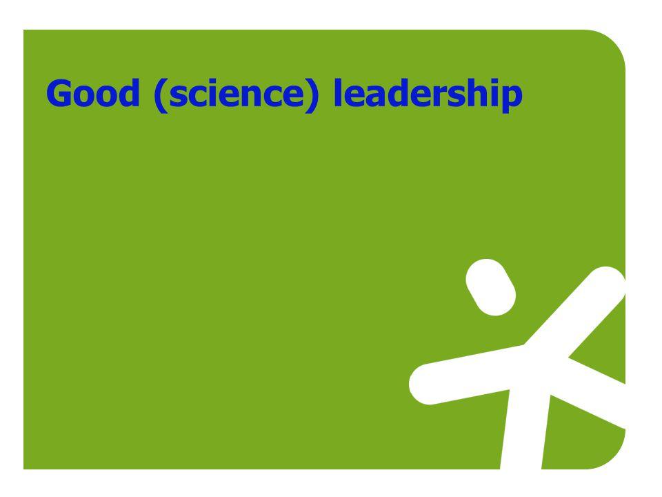 Good (science) leadership