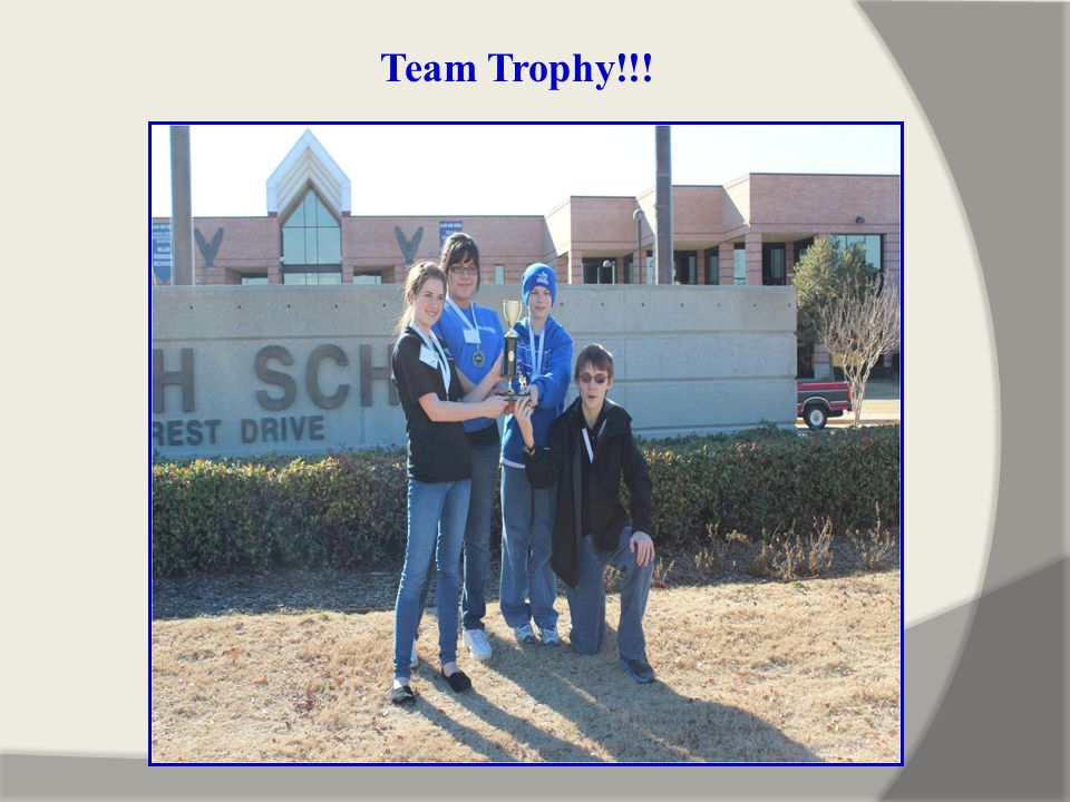 Team Trophy!!!