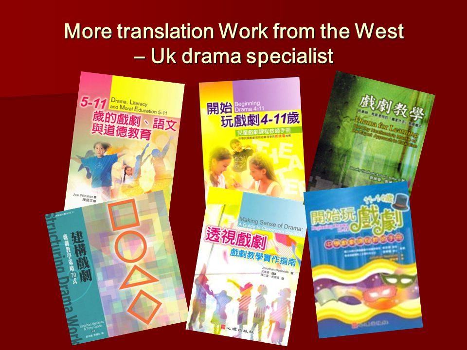 More translation Work from the West – Uk drama specialist