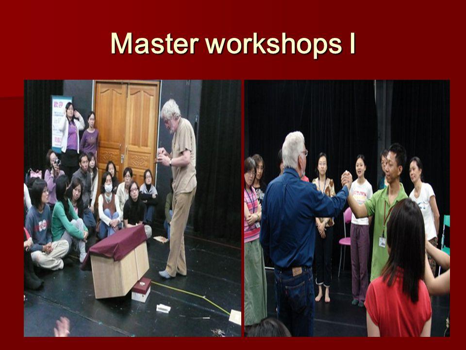 Master workshops Ⅰ