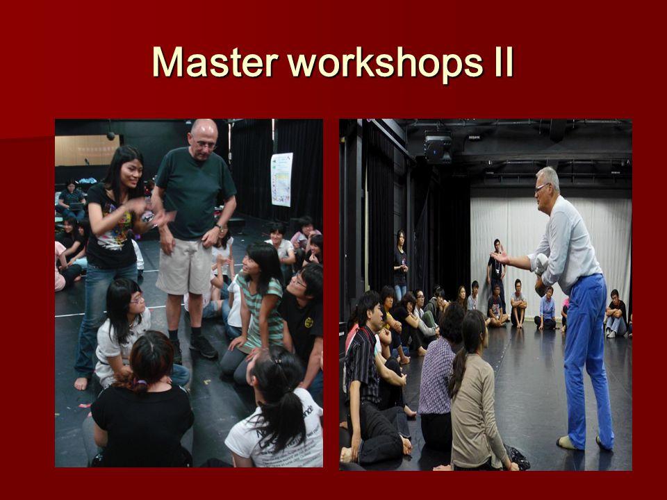Master workshops Ⅱ